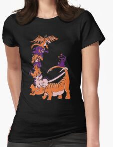 Dinosaur Dragons Womens Fitted T-Shirt