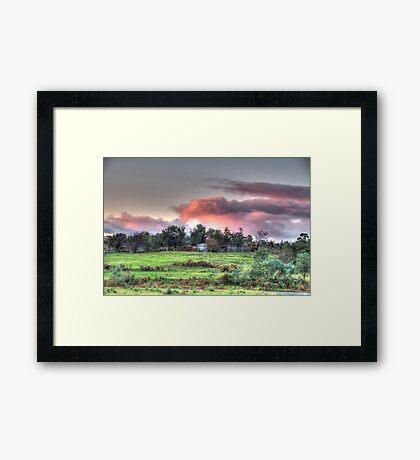 Evening sky,Hill End, Framed Print