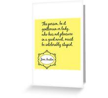 Jane Austen Quote Greeting Card
