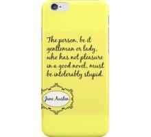 Jane Austen Quote iPhone Case/Skin