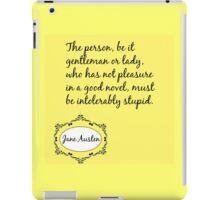 Jane Austen Quote iPad Case/Skin