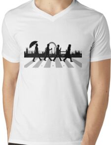221B Abbey Road (Version Two) Mens V-Neck T-Shirt