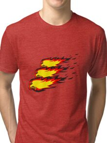 Feuer flamme feuerball agro formation  Tri-blend T-Shirt