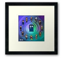 O'Clocktor Who Framed Print