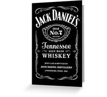 Jack Daniels Tshirts Greeting Card