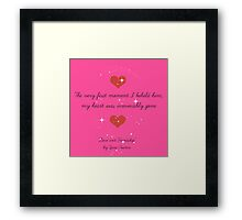 Love and Friendship Quote Framed Print