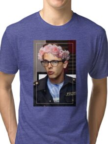iDubbbzTV Flower Crown Tri-blend T-Shirt