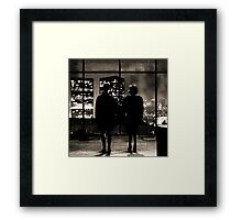 Fight club / last frame (sepia) Framed Print