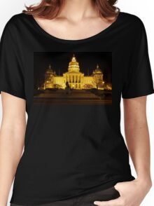 Iowa State Capitol Building Front (Night) Women's Relaxed Fit T-Shirt