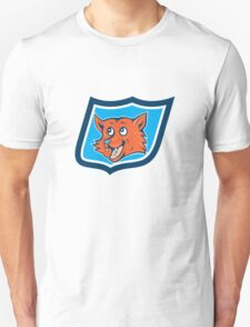 Red Fox Head Shield Cartoon Unisex T-Shirt