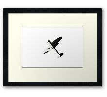 White and night Spitfire design Framed Print