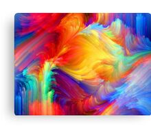 full colors summer exciting design Canvas Print