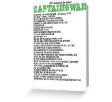 30 reasons to ship CaptainSwan Greeting Card