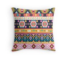 Seamless pattern in native american style Throw Pillow