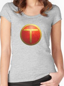Super Teemo - Emblem  Women's Fitted Scoop T-Shirt