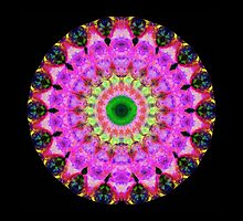 Pink Love Mandala Art by Sharon Cummings by Sharon Cummings