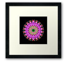 Pink Love Mandala Art by Sharon Cummings Framed Print