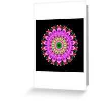 Pink Love Mandala Art by Sharon Cummings Greeting Card