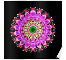 Pink Love Mandala Art by Sharon Cummings Poster