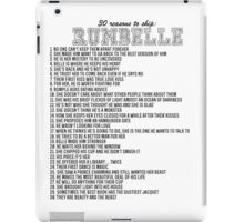 30 reasons to ship Rumbelle iPad Case/Skin