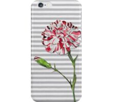 Candy Striped Carnation iPhone Case/Skin