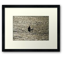 Early Morning Wait For A Wave Framed Print