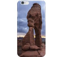 Stormy Sunset - Delicate Arch - Moab - Utah iPhone Case/Skin