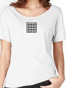 Grayscale Pinwheel Mirror Women's Relaxed Fit T-Shirt