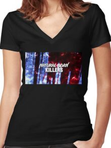 NATURAL BORN KILLERS - logo Women's Fitted V-Neck T-Shirt