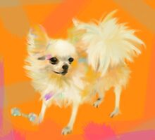 Dog Chihuahua Orange by Go van Kampen