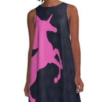 Visible Invisible Pink Unicorn A-Line Dress