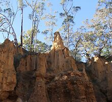 Rock formation at Golden Gully by ©Josephine Caruana