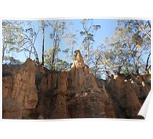 Rock formation at Golden Gully Poster