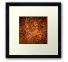 Howling Coyote Petroglyph - Moab - Utah Framed Print