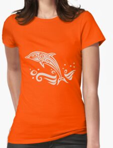 Dolphin Womens Fitted T-Shirt