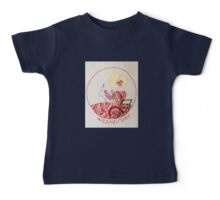 Wednesday Sewing and Mending Bonnet Lady Baby Tee