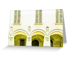 Fognano: arch and windows Greeting Card