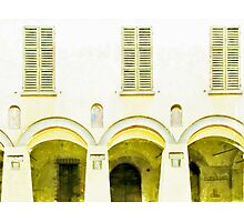 Fognano: arch and windows Photographic Print
