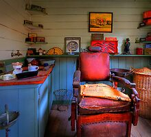 Coal Creek Barber Shop - Korumburra Vic by Hans Kawitzki