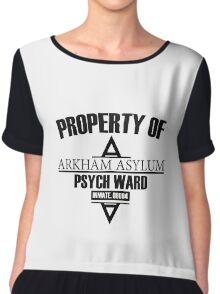 Arkham Asylum // Psych Ward Inmate Design Chiffon Top