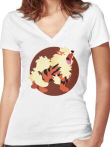 Arcanine - Basic Women's Fitted V-Neck T-Shirt