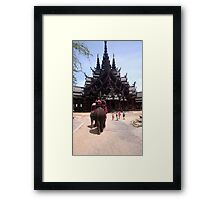 Thailand Sanctuary of Truth Framed Print