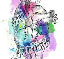 Bulletproof Heart watercolor by sheelight