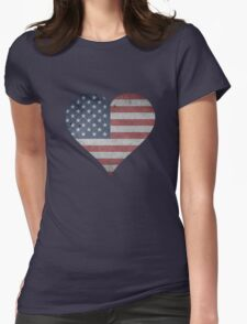 American Heart Womens Fitted T-Shirt