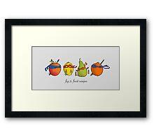 Fruit Ninja Turtles Framed Print