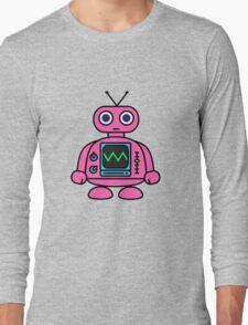 Pink Robot Long Sleeve T-Shirt