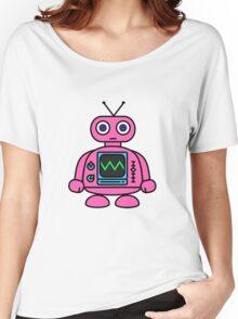 Pink Robot Women's Relaxed Fit T-Shirt