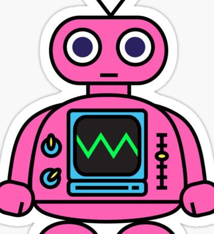 Pink Robot Sticker