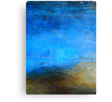 Acrylic Abstract Painting Modern Wall Art PACIFIC SHORE Artist Holly Anderson Canvas Print