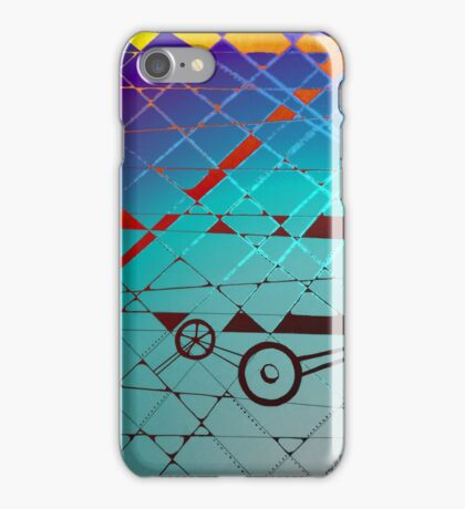 The Mechanic - A Drawing in Ink and Gimp iPhone Case/Skin